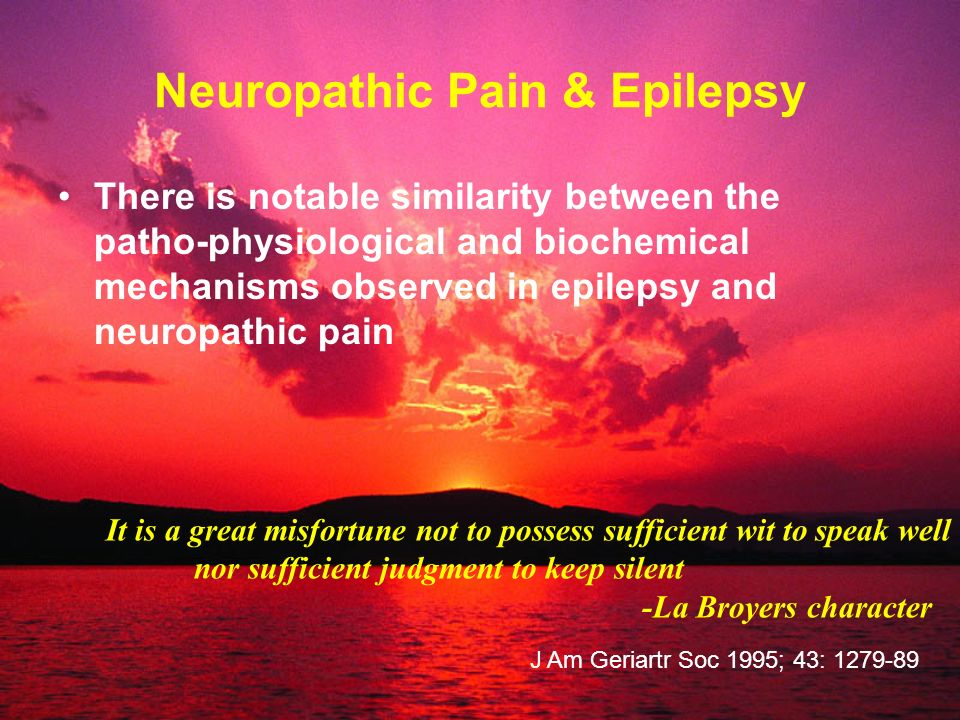 Neuropathic Pain & Epilepsy