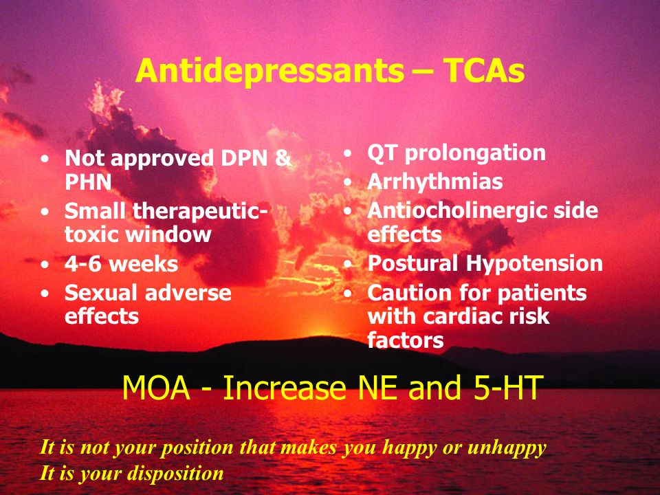 Antidepressants – TCAs