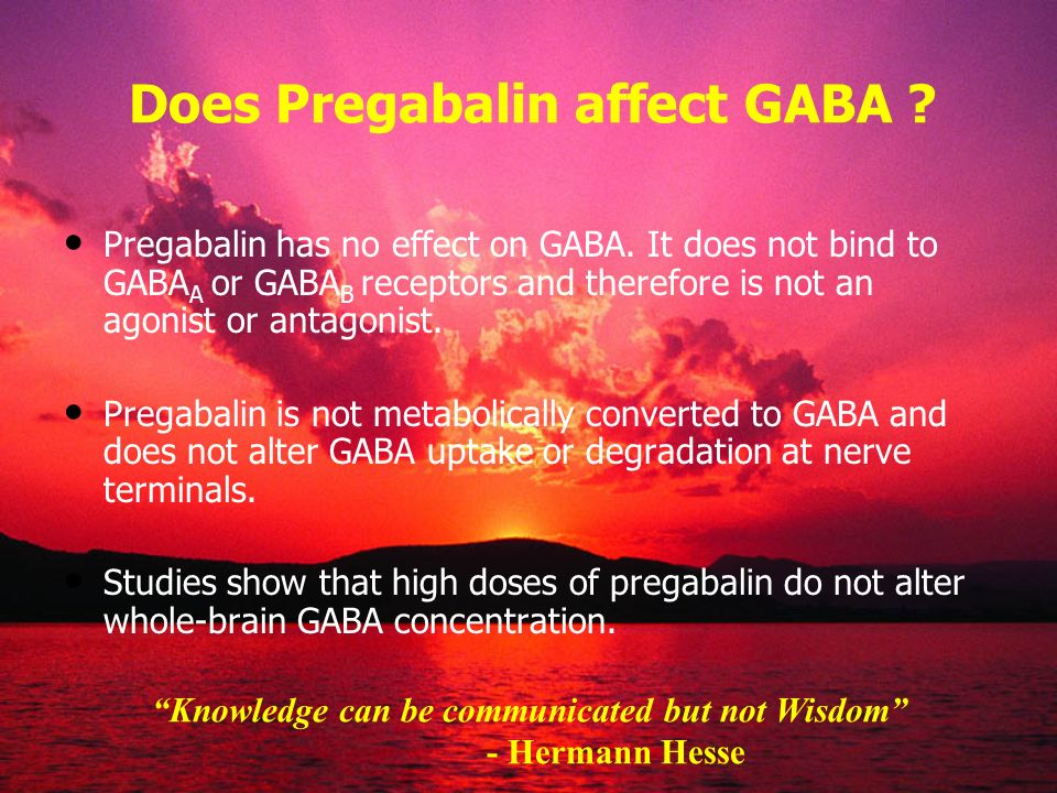 Does Pregabalin affect GABA