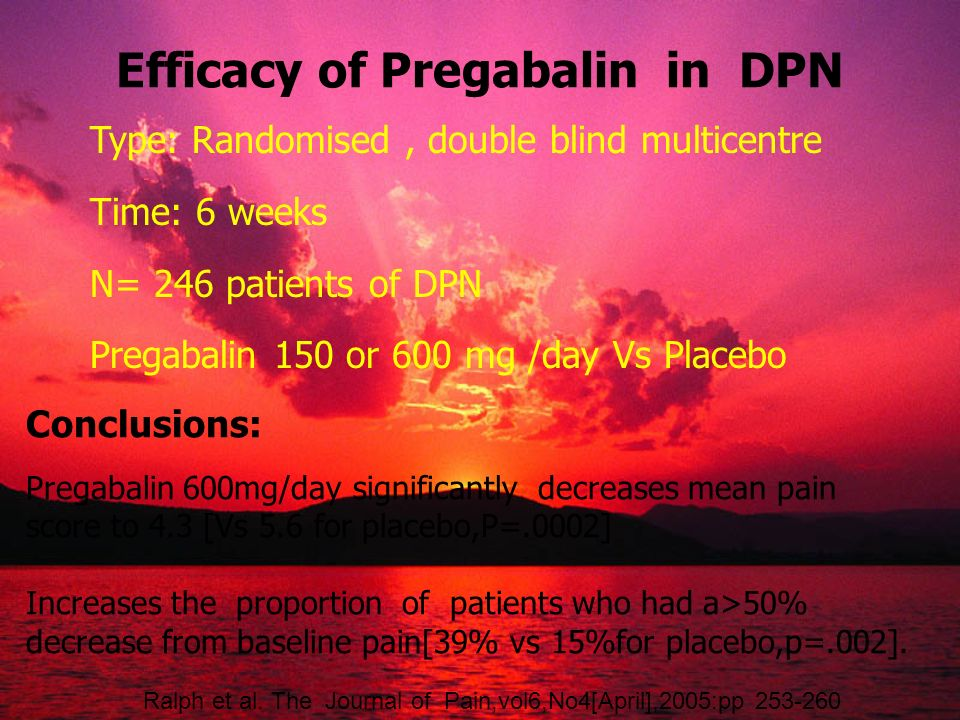 Efficacy of Pregabalin in DPN
