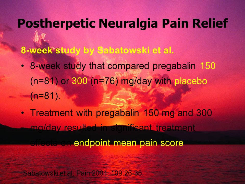 Postherpetic Neuralgia Pain Relief