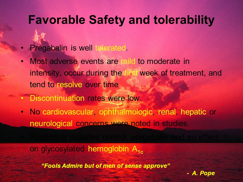 Favorable Safety and tolerability