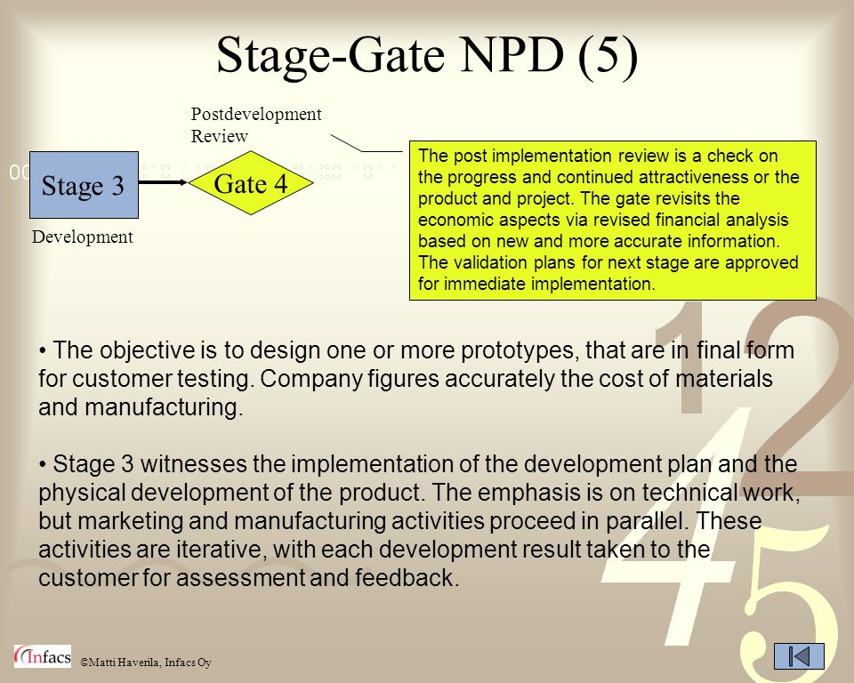 Stage-Gate NPD (5) Stage 3 Gate 4