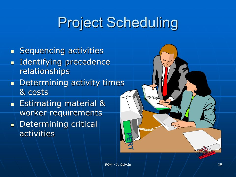 Project Scheduling Sequencing activities
