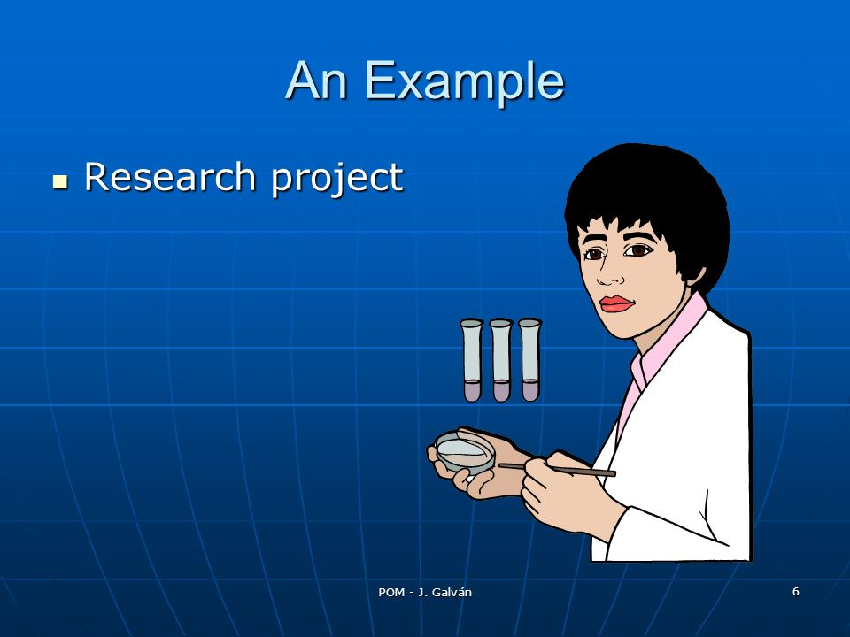 An Example Research project POM - J. Galván 12