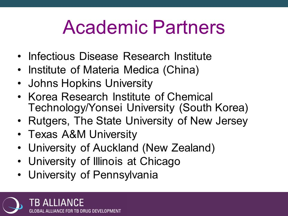 Academic Partners Infectious Disease Research Institute