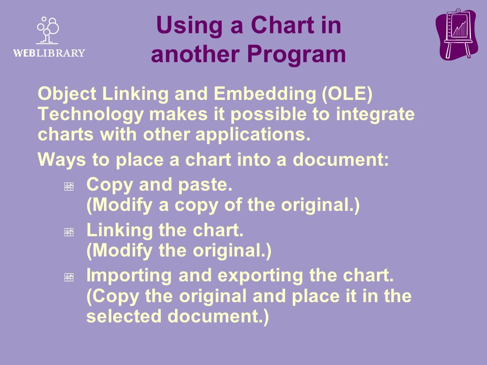 Using a Chart in another Program