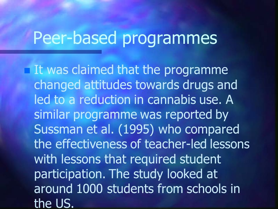 Peer-based programmes