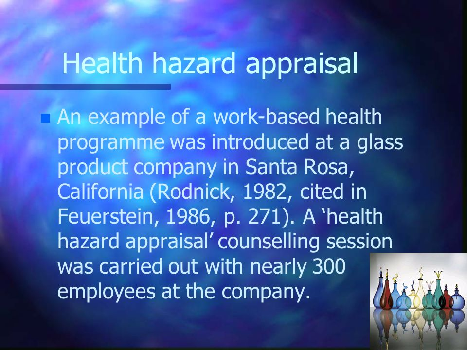 Health hazard appraisal