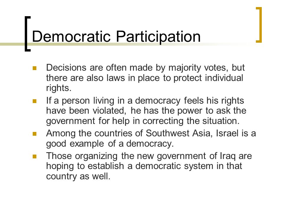 Democratic Participation