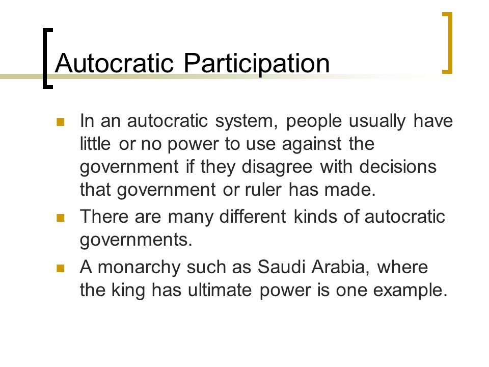 Autocratic Participation