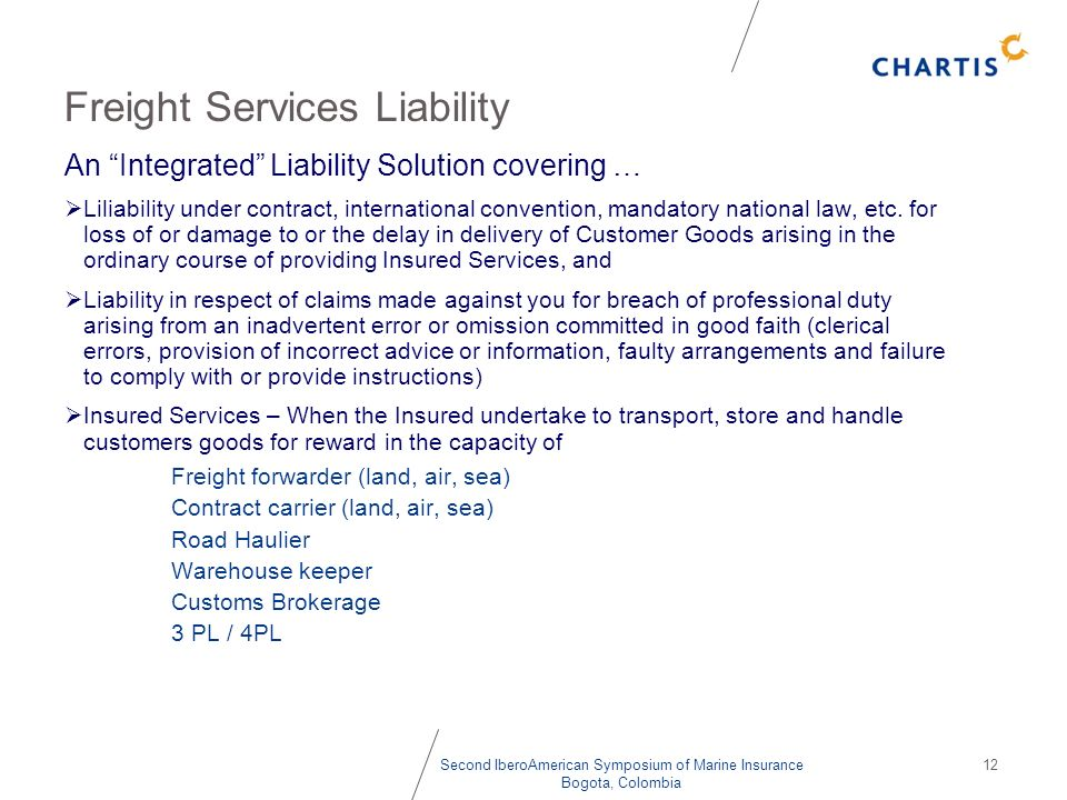 Freight Services Liability