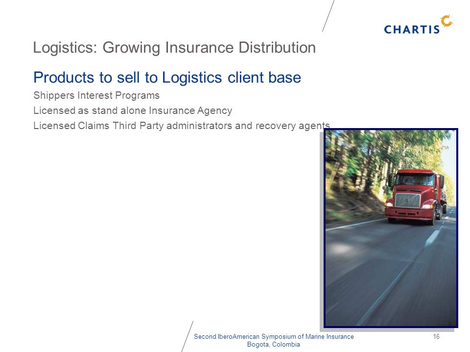 Logistics: Growing Insurance Distribution