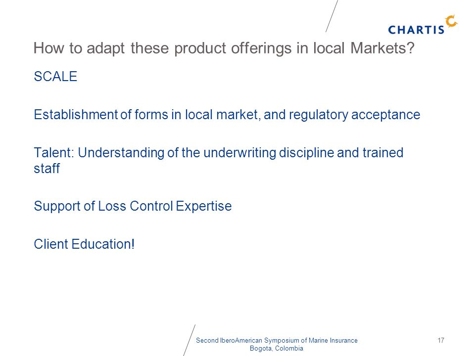 How to adapt these product offerings in local Markets