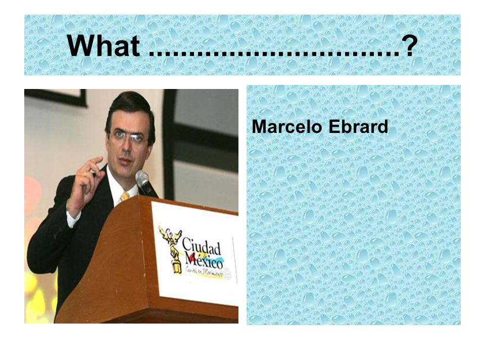 What Marcelo Ebrard