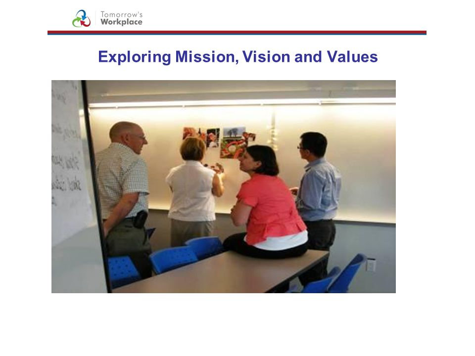 Exploring Mission, Vision and Values
