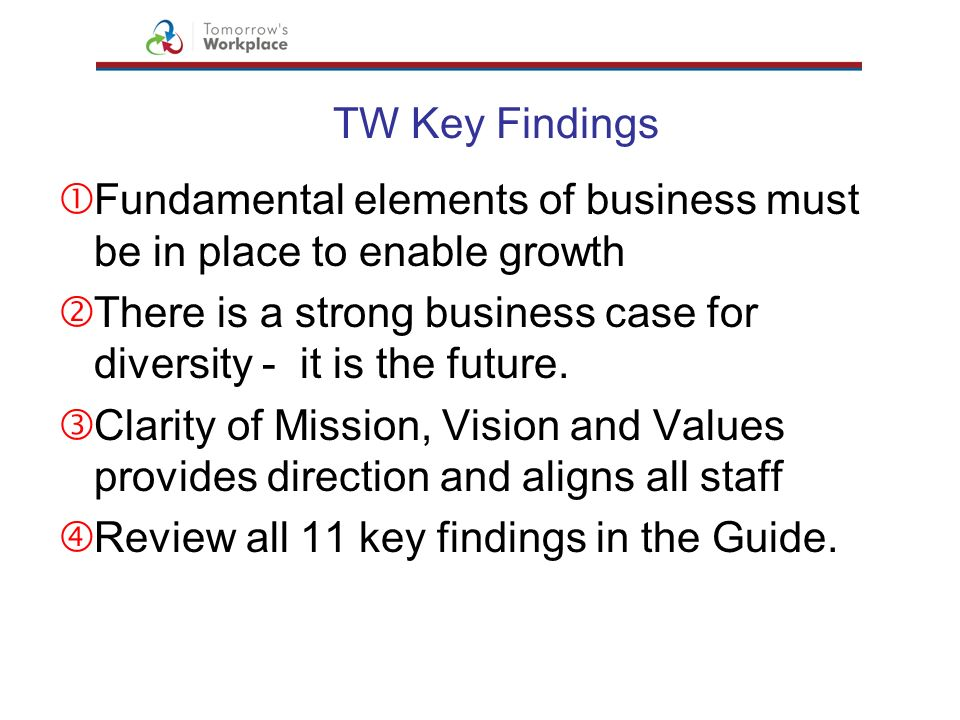 Fundamental elements of business must be in place to enable growth