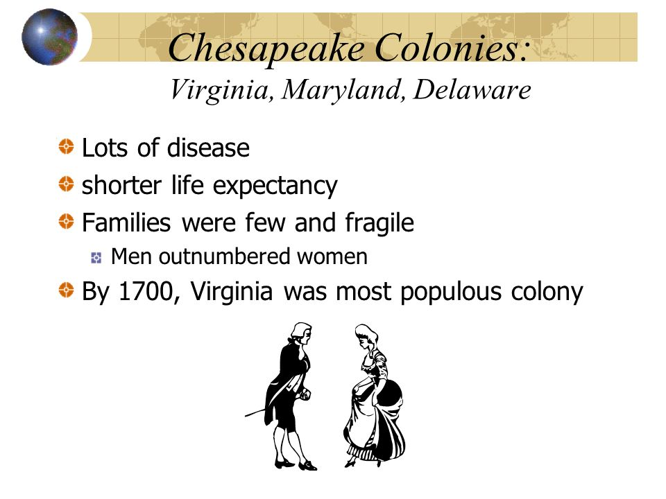 Chesapeake Colonies: Virginia, Maryland, Delaware