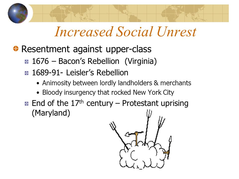 Increased Social Unrest