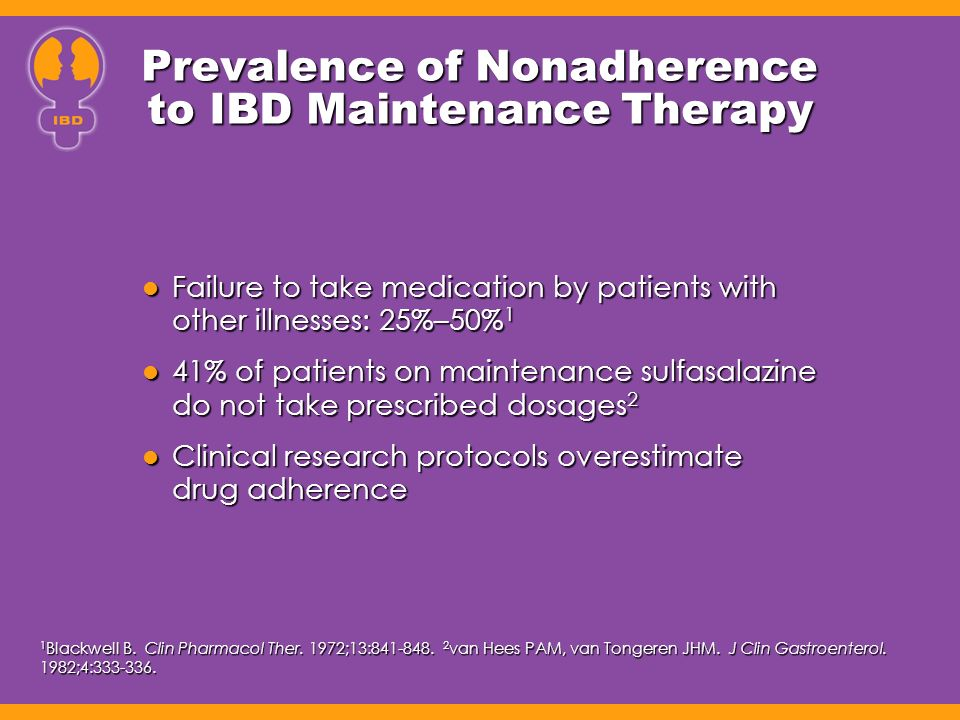 Prevalence of Nonadherence to IBD Maintenance Therapy