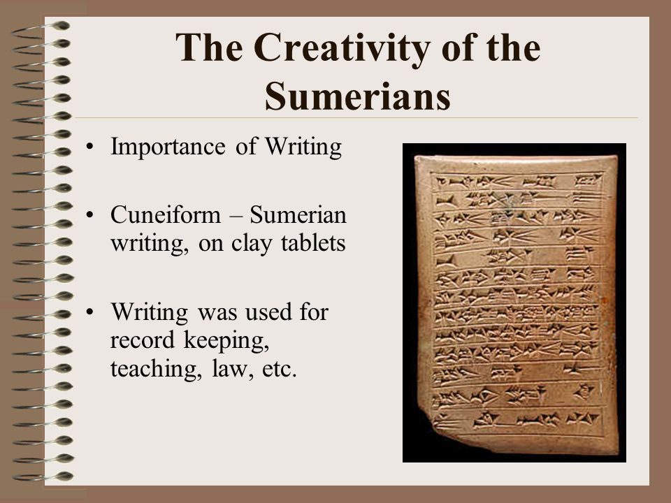 The Creativity of the Sumerians