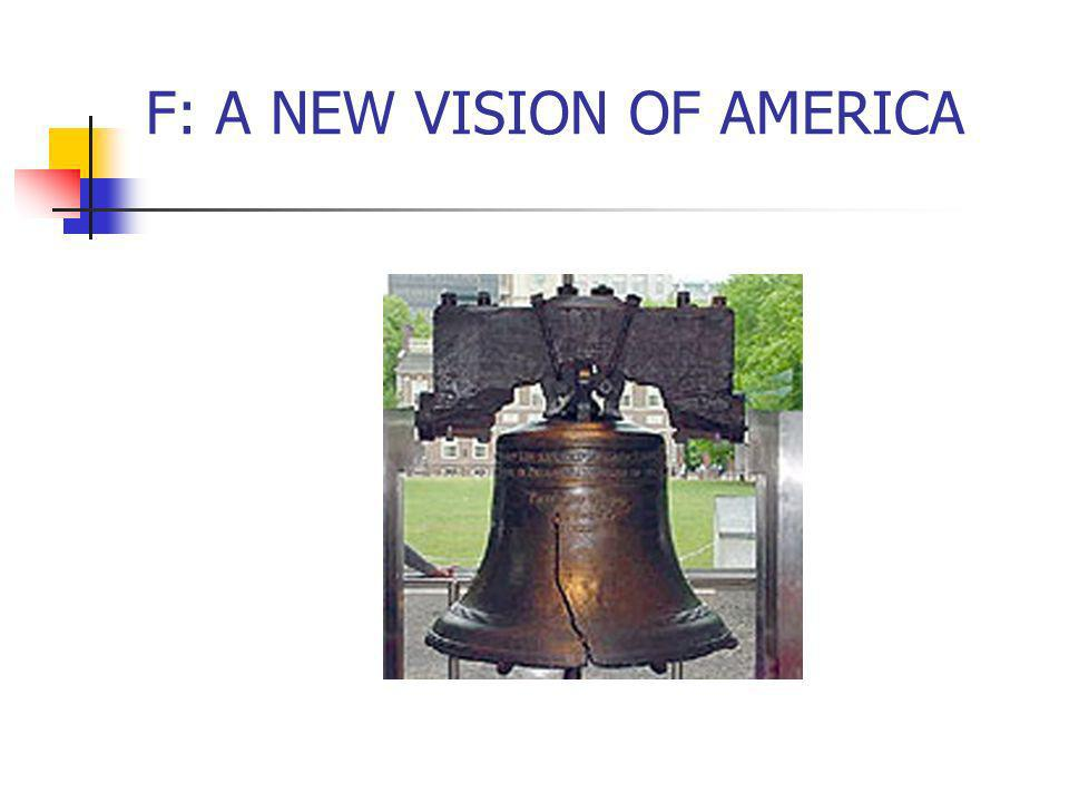 F: A NEW VISION OF AMERICA