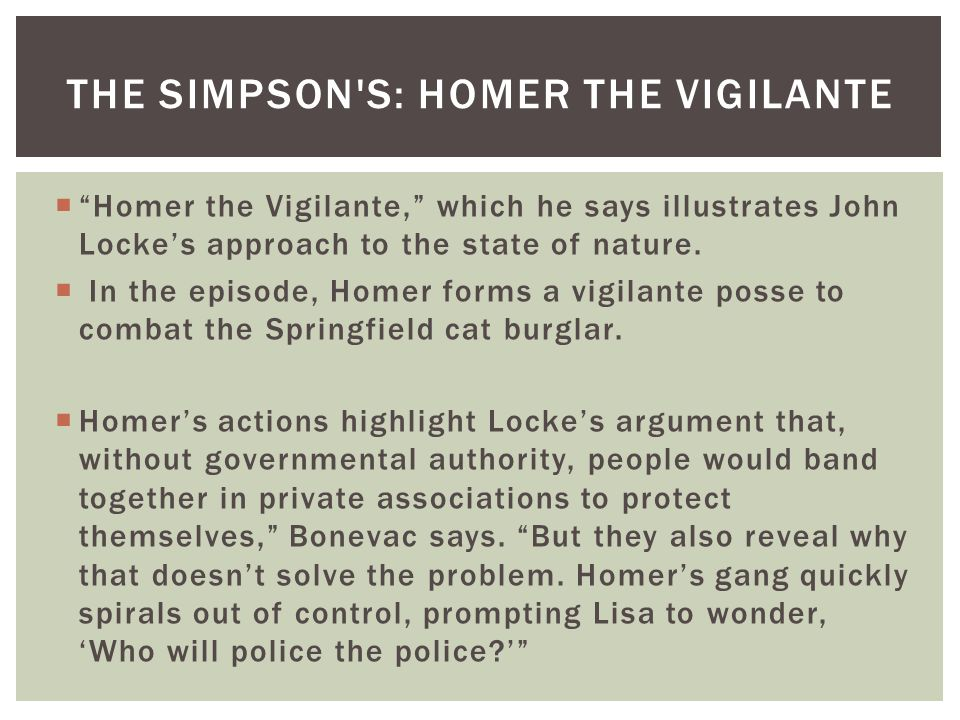 The Simpson s: Homer the Vigilante