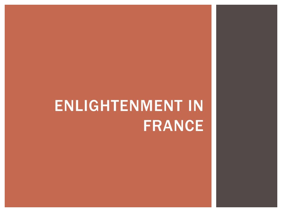Enlightenment in France