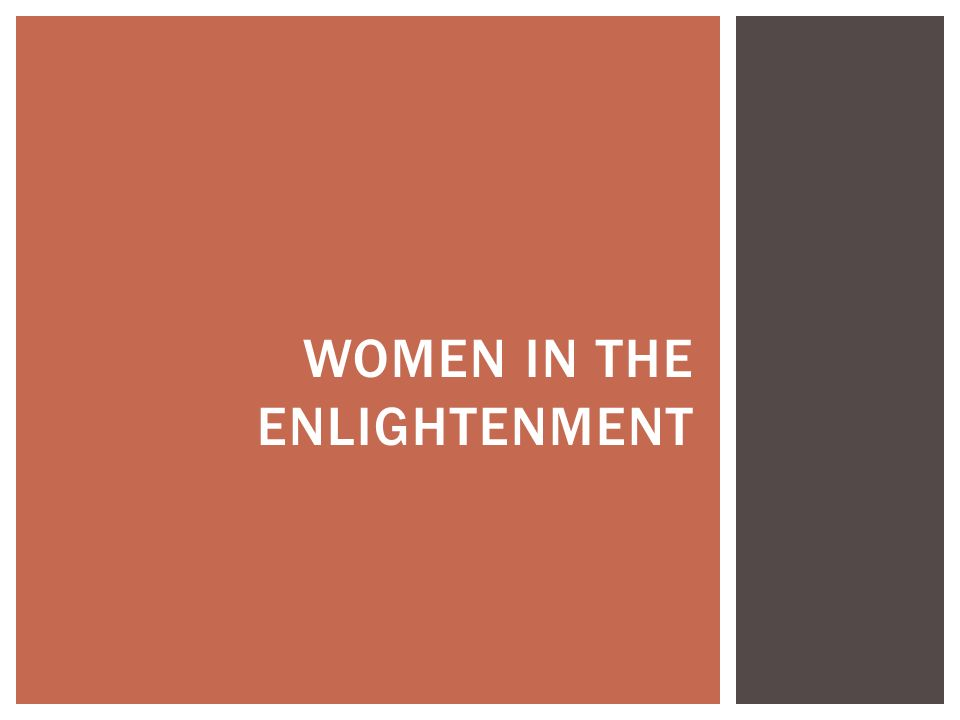 Women in the Enlightenment