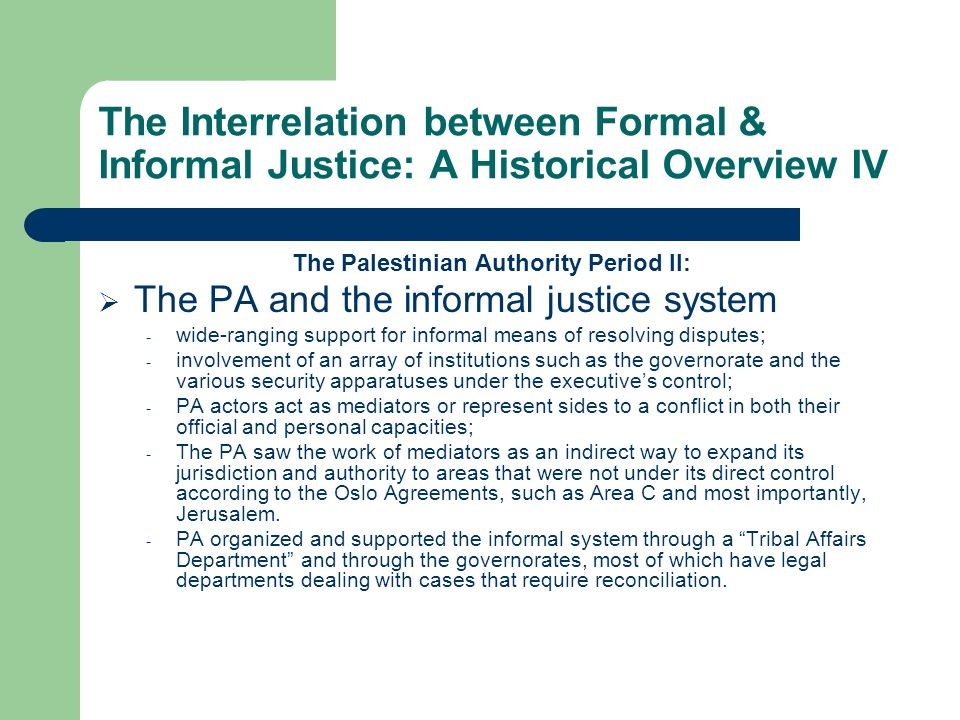 The Palestinian Authority Period II: