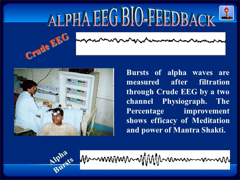 ALPHA EEG BIO-FEEDBACK