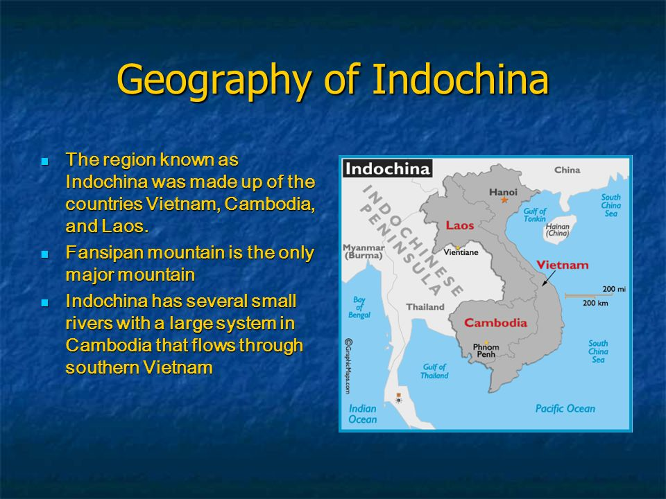 Geography of Indochina