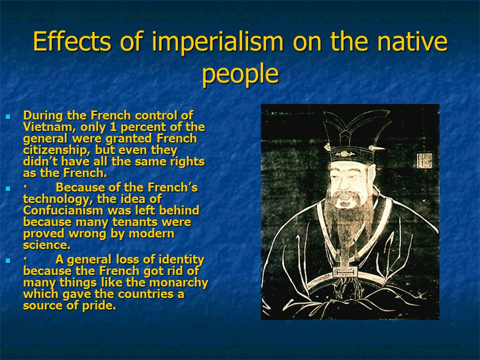 Effects of imperialism on the native people
