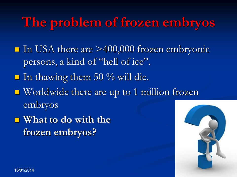 The problem of frozen embryos