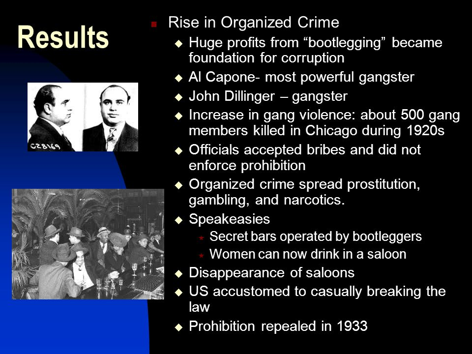Results Rise in Organized Crime