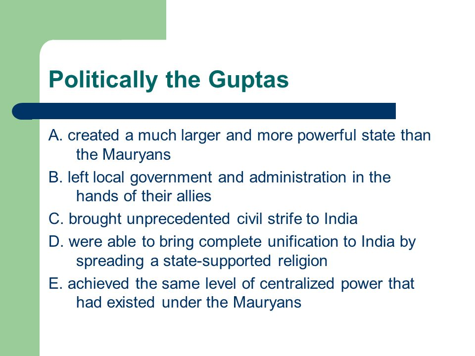 Politically the Guptas