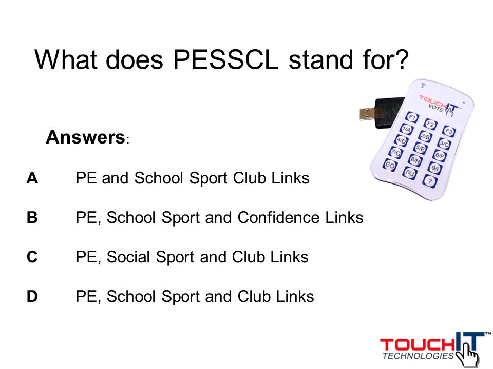 What does PESSCL stand for