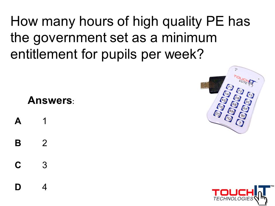 How many hours of high quality PE has the government set as a minimum entitlement for pupils per week