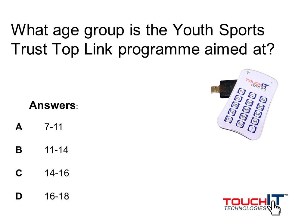 What age group is the Youth Sports Trust Top Link programme aimed at