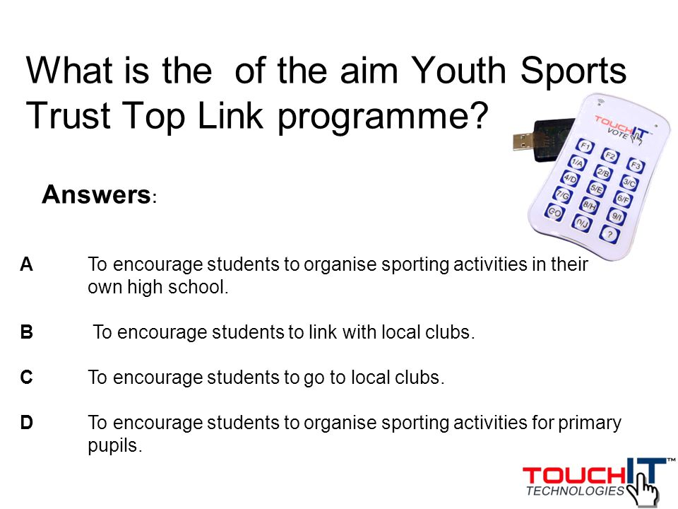 What is the of the aim Youth Sports Trust Top Link programme