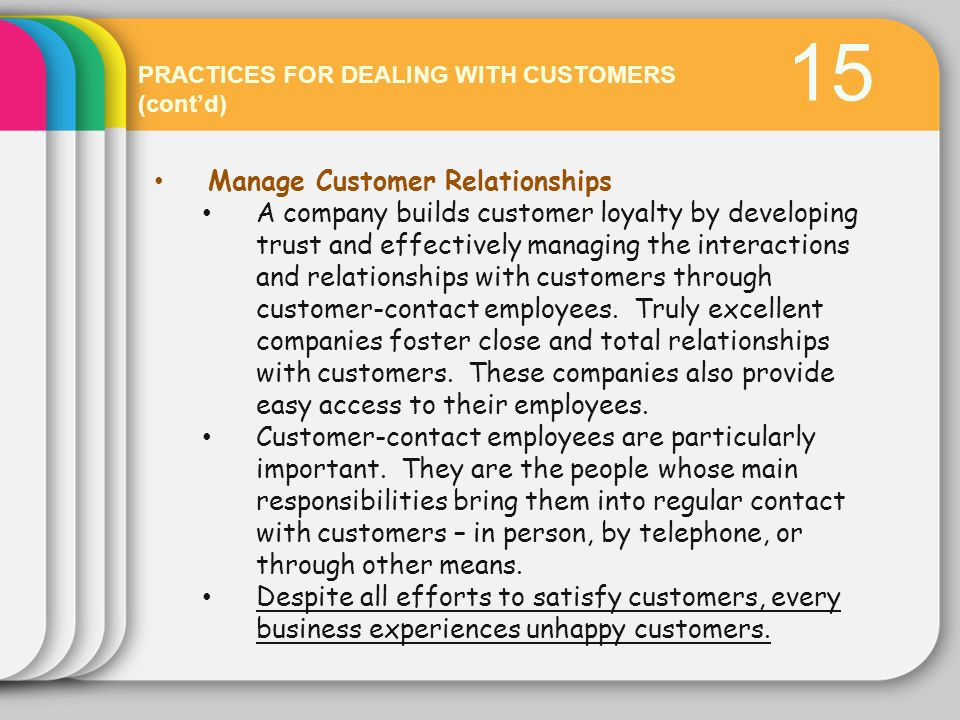 15 Manage Customer Relationships