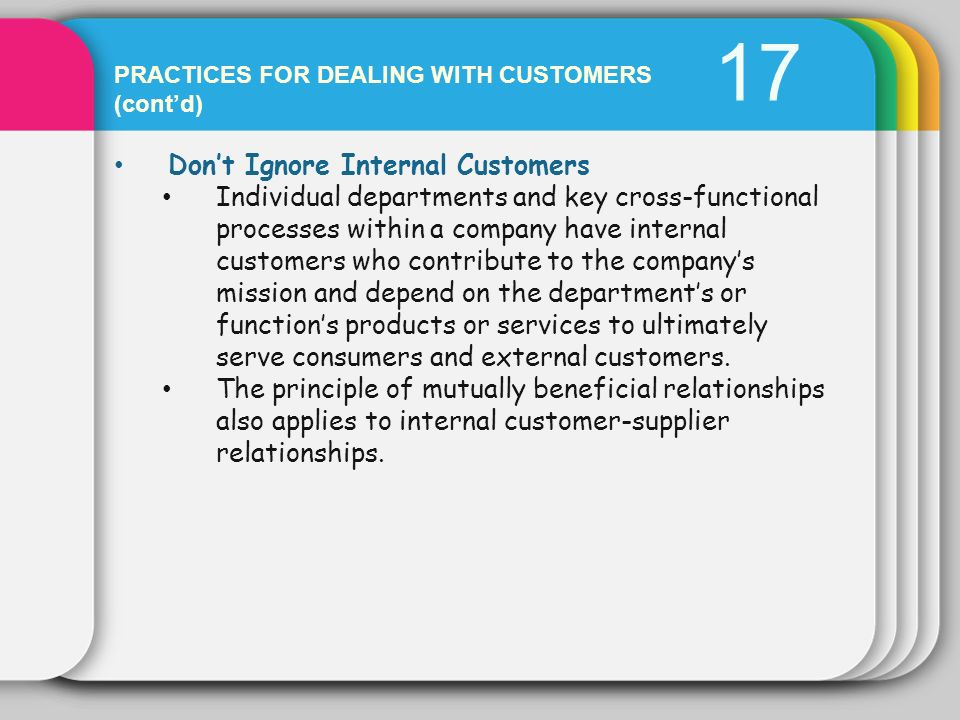 17 Don't Ignore Internal Customers