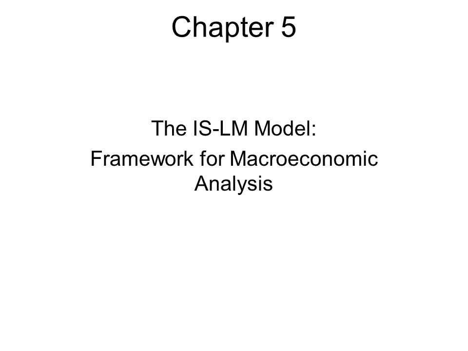 The IS-LM Model: Framework for Macroeconomic Analysis