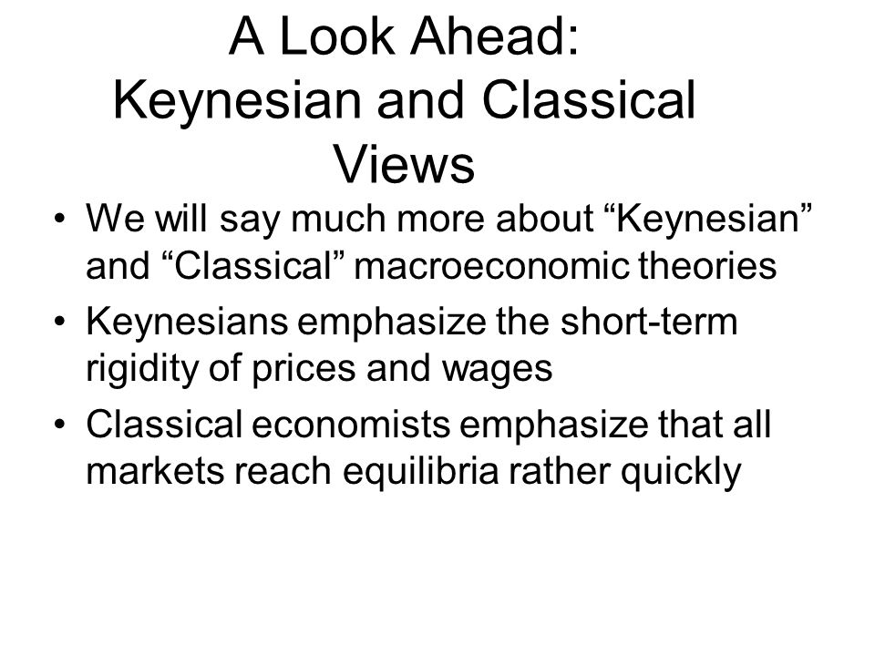 A Look Ahead: Keynesian and Classical Views
