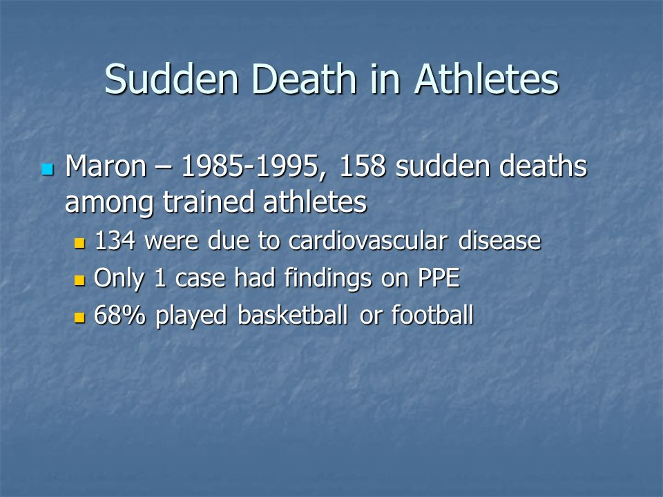 Sudden Death in Athletes