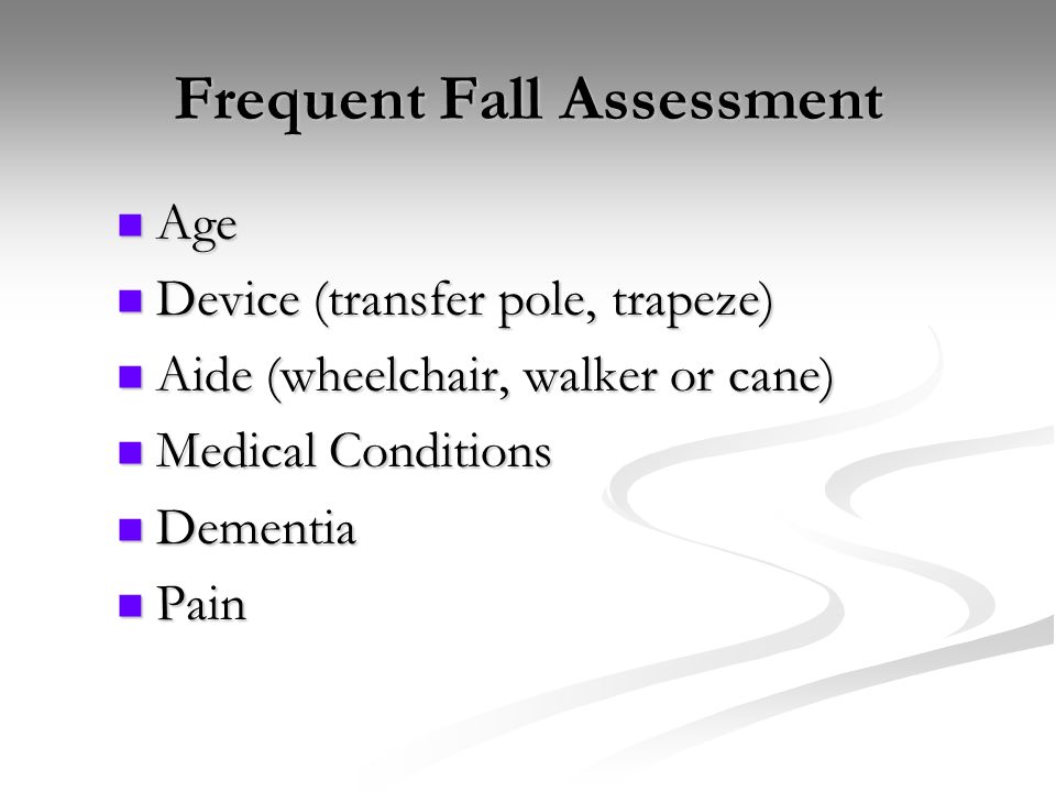 Frequent Fall Assessment