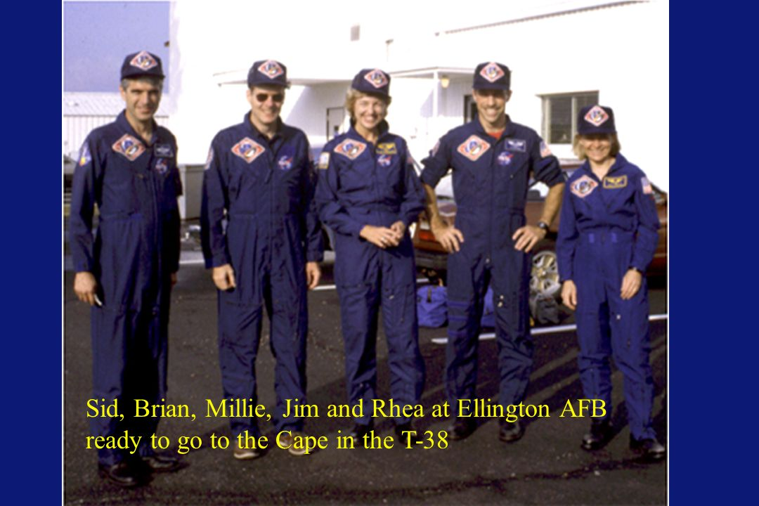 Sid, Brian, Millie, Jim and Rhea at Ellington AFB