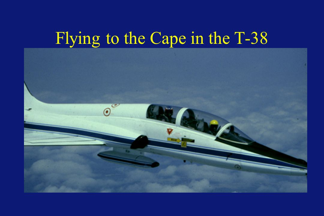 Flying to the Cape in the T-38