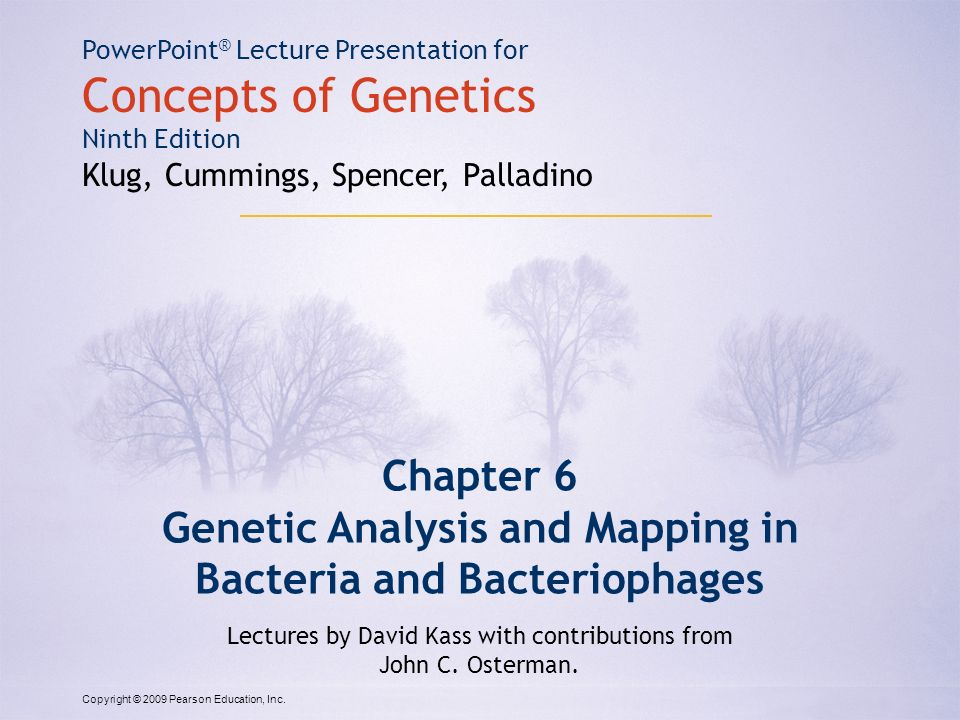 genetic analysis and mapping in bacteria and bacteriophages ppt