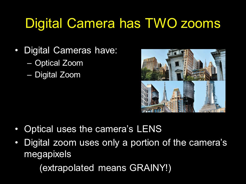 Digital Camera has TWO zooms